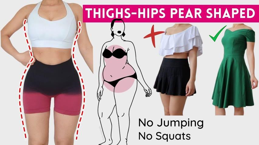 Day 30 Best workout for PEAR SHAPE! slimmer thighs & hips, burn saddlebag fat, cellulite. No jumping