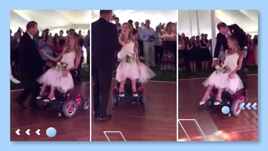 Dad Dances with Daughter in Wheelchair