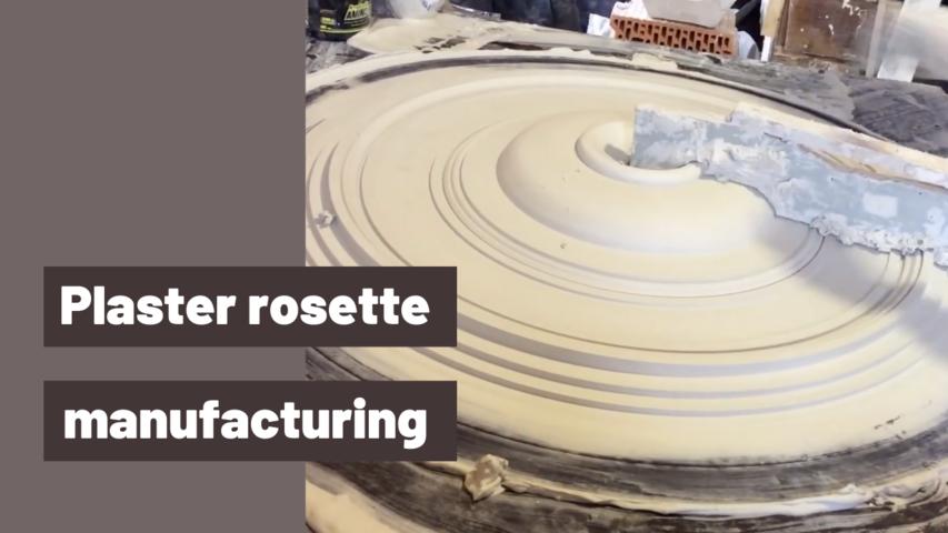 Plaster rosette manufacturing