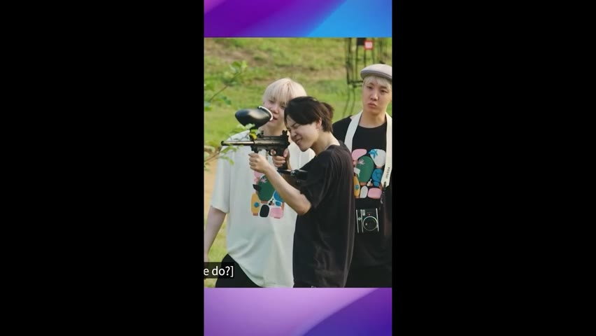 BTS FUNNY PAINTBALL GAME 😄