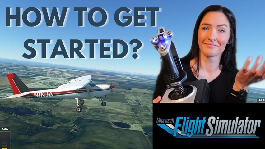 Flight Simulator 2020 Flight LESSONS   HOW TO GET STARTED   Pilot Teaches How to FLY - Tutorial #1