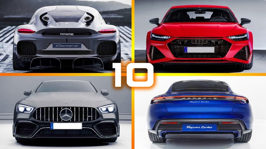 Top 10 Fastest 4-seat Sports Cars in the World 2020