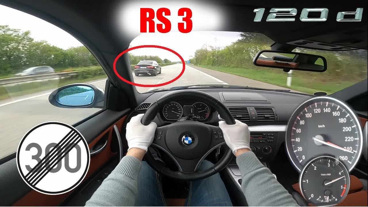 BMW E82 120d Performance NO LIMIT AUTOBAHN TOP SPEED POV TESTDRIVE