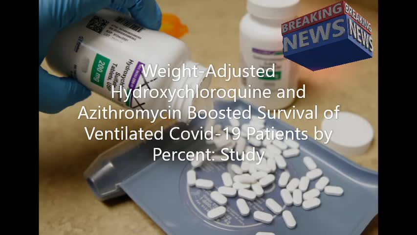 Hydroxychloroquine and Azithromycin Boosted Survival of Ventilated Covid19 Patients by Percent Study