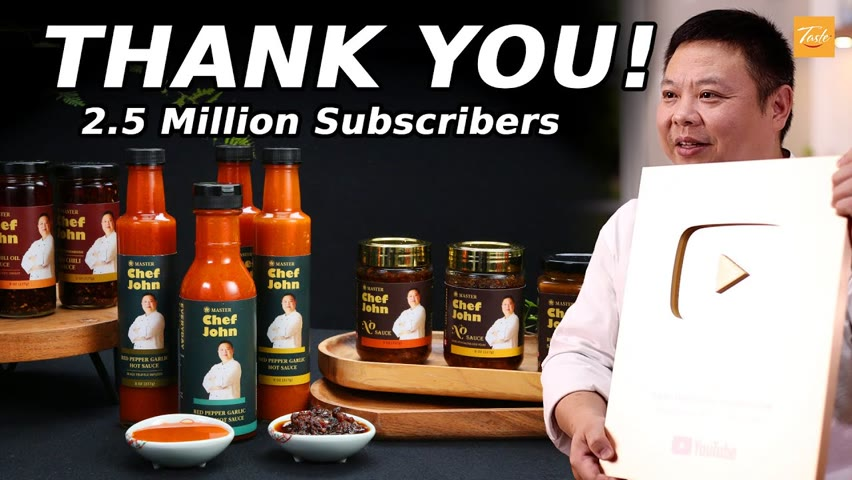 A Special Announcement! 2.5 Million Subscribers Celebration | Thank You • Taste Show