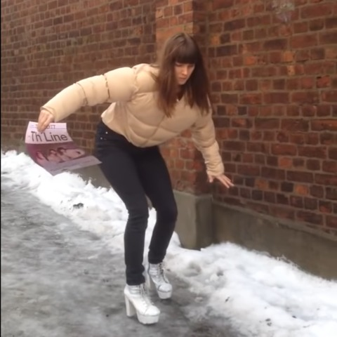 Hilarious Ice Slip moments
