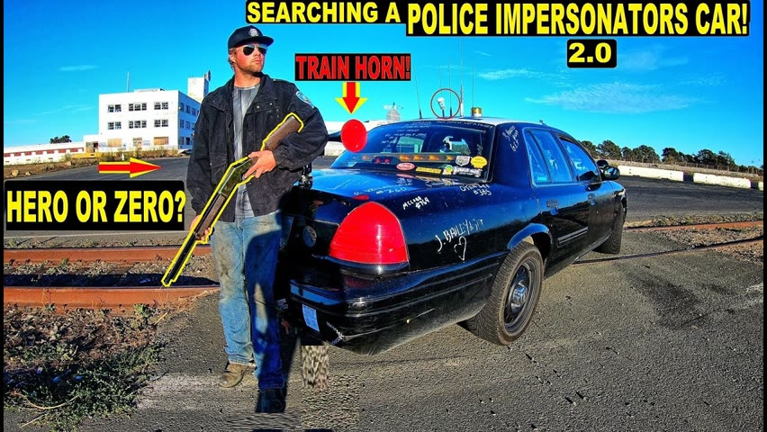 Searching A Police Impersonators Car!   Crown Rick Auto