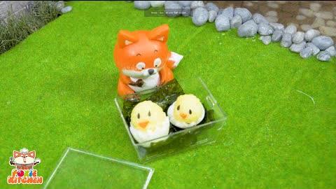 [ENG SUB] Lunch box #1 - Chicken Onigiri   ASMR Mini Cooking