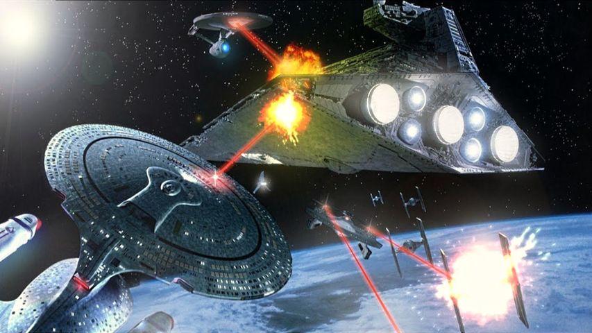 Galactic Battles - EPIC Battle between STAR WARS, STAR TREK, HALO & MASS EFFECT...