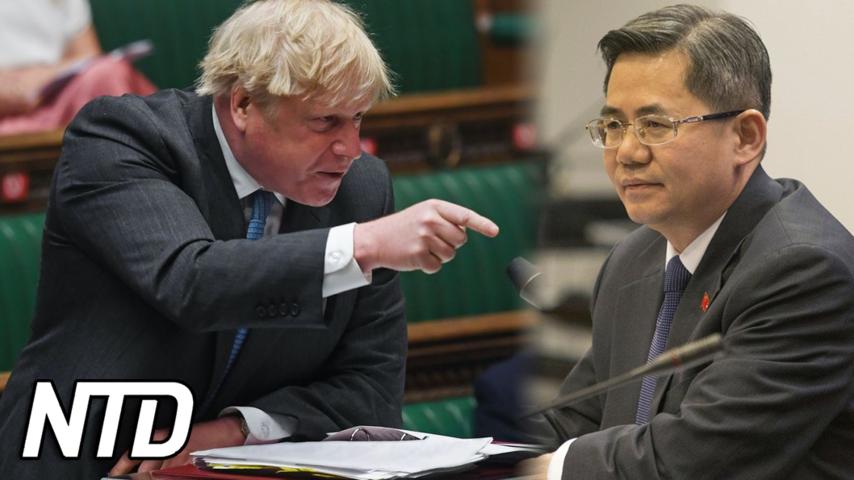 Kinas ambassadör portad från parlamentet | NTD NYHETER