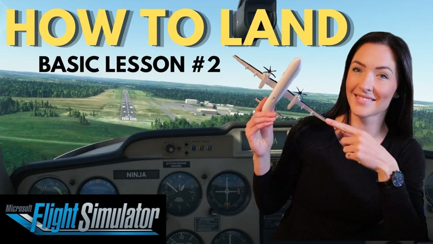 Flight Simulator 2020 Flight LESSONS   HOW TO LAND   Pilot Teaches How to FLY -  MS Tutorial #2