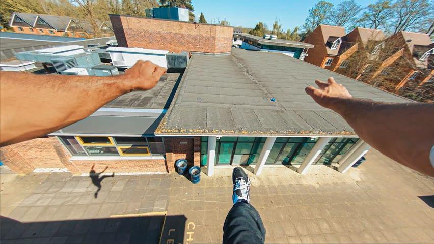 UK Rooftop Parkour POV Tour 🇬🇧
