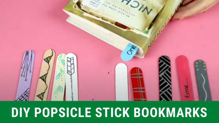 DIY Popsicle Stick Bookmarks