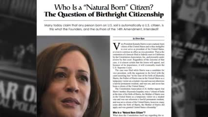 """Who Is a """"Natural Born Citizen""""? The Question of  Birthright Citizenship   Beyond the Cover"""