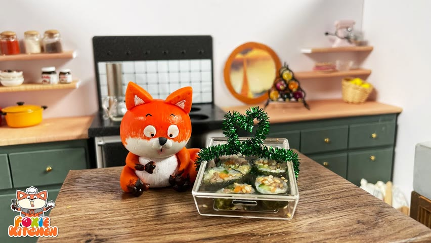 [ENG SUB] Lunch box #2 - Kimbap   ASMR Mini Cooking