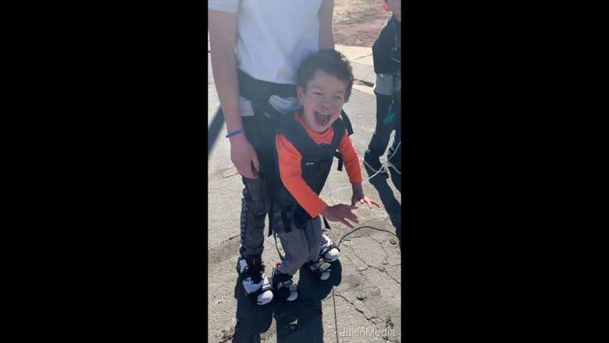 Boy Helps Kid With Cerebral Palsy to Play Out on Street