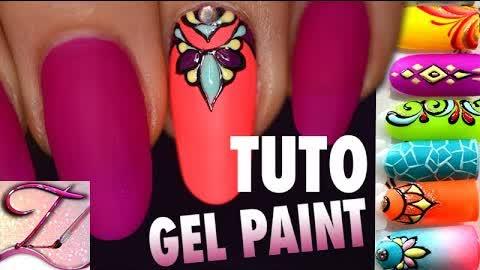 Tuto nail art gel paint facile : le bijou mandala