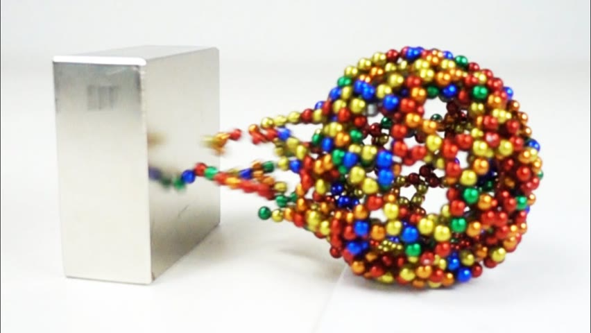 Monster Magnets VS Magnetic Sculptures in Slow Motion   Magnetic Games