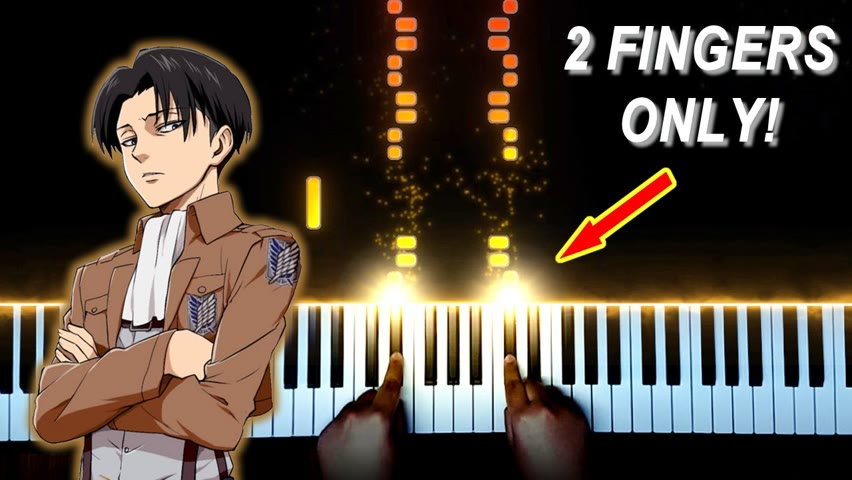 Attack on Titan Season 4 OP but I only use 2 fingers (Piano)