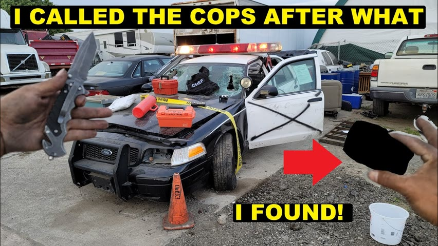 I Bought a crashed Police Car! Had to Call the cops after what I found!