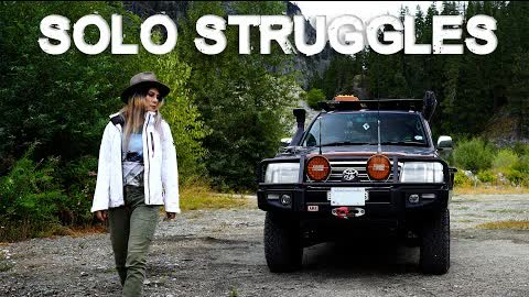 The DOWNSIDE of being used to Solo Travel | Toyota Landcruiser solo female overland travel