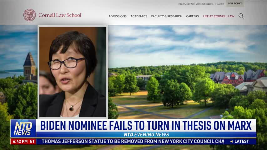 Biden Nominee Fails to Turn in Thesis on Marx