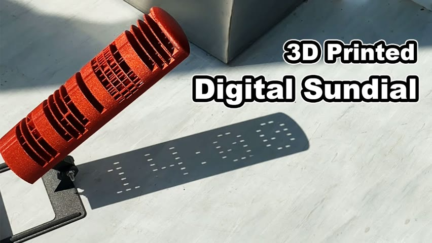 3D Printed Sundial: It's Digital!😳