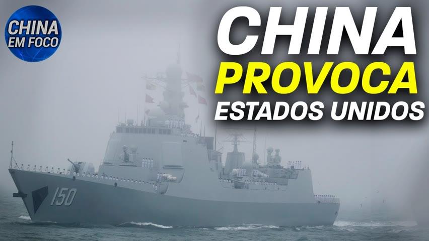 Navios chineses entram em zona americana; Destroyer chinês é visto perto do Japão