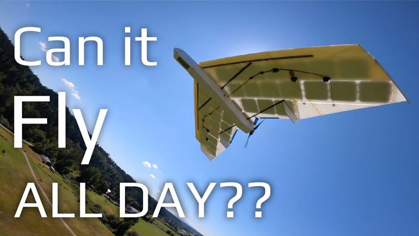 RC Solar Plane Flight Duration Test