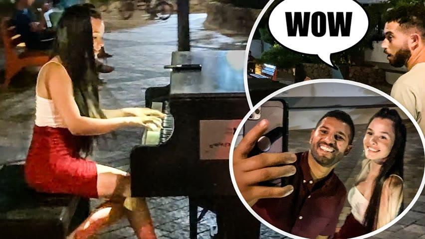 "I played ""Bohemian Rhapsody"" in public! 😱 (Street Piano Performance)"