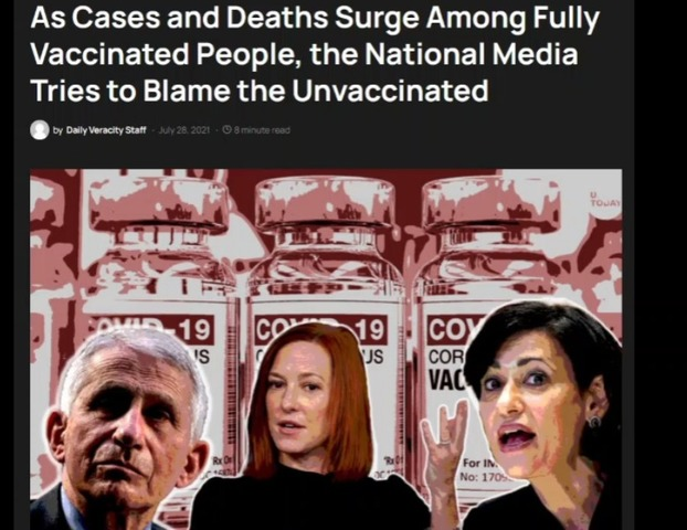 Deaths Surge Among Fully Vaccinated People, the National Media Tries to Blame the Unvaccinated