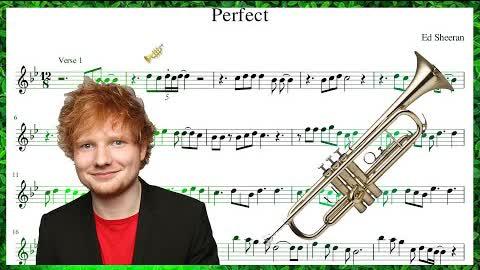 Ed Sheeran - Perfect (Trumpet Sheet Music Play Along!)