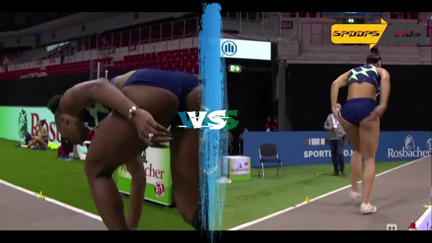 Khaddi Sagnia vs Ivana Spanovic   Women Long Jump   2021  ᴴᴰ