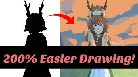 How to EASILY Draw Characters Digitally - Silhouette Technique