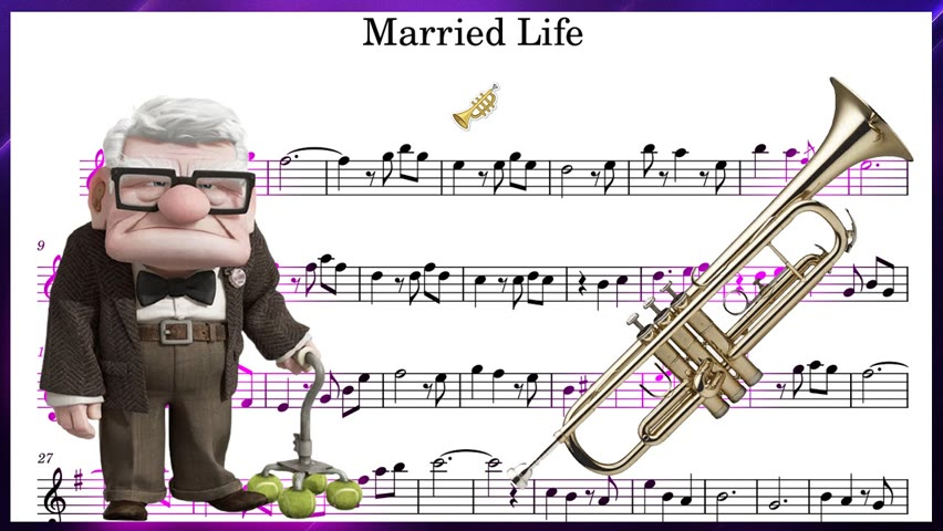 Married Life from UP - Trumpet Sheet Music!