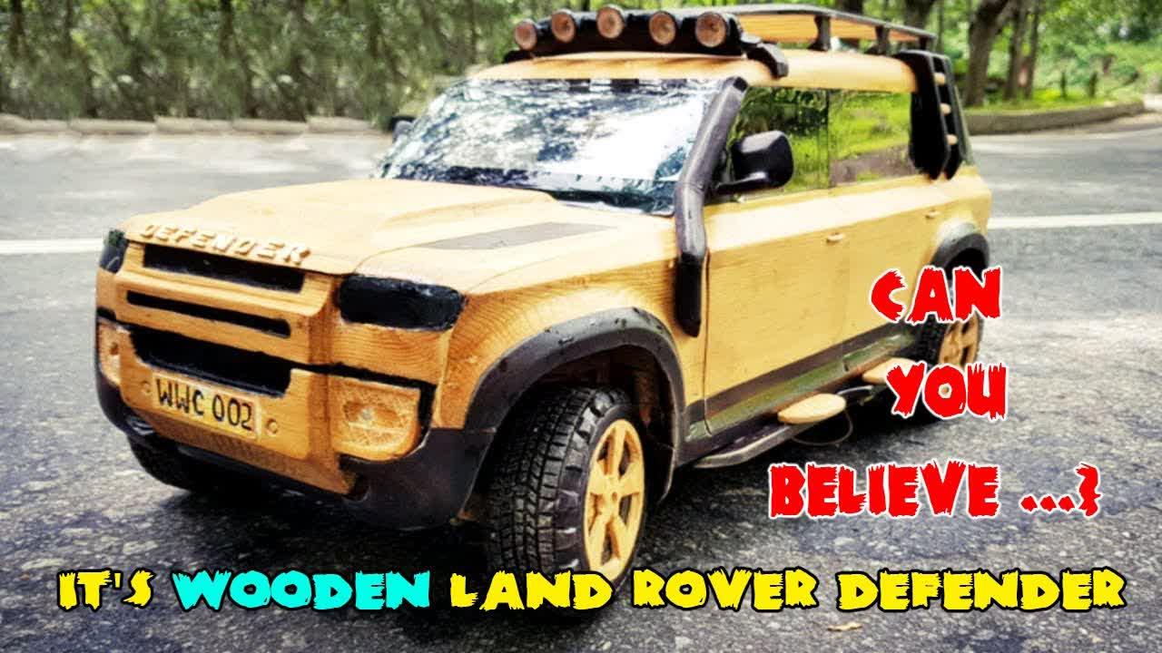 Wood Carving - LAND ROVER DEFENDER