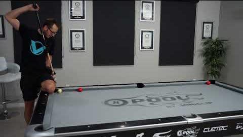 DAILY Pool Trick Shot - DAY 8- Long Rail Jump Masse!! - Venom Trickshots
