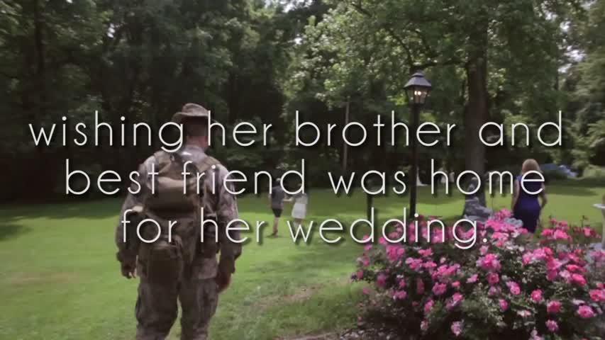 Marine Surprises Bride on Wedding Day