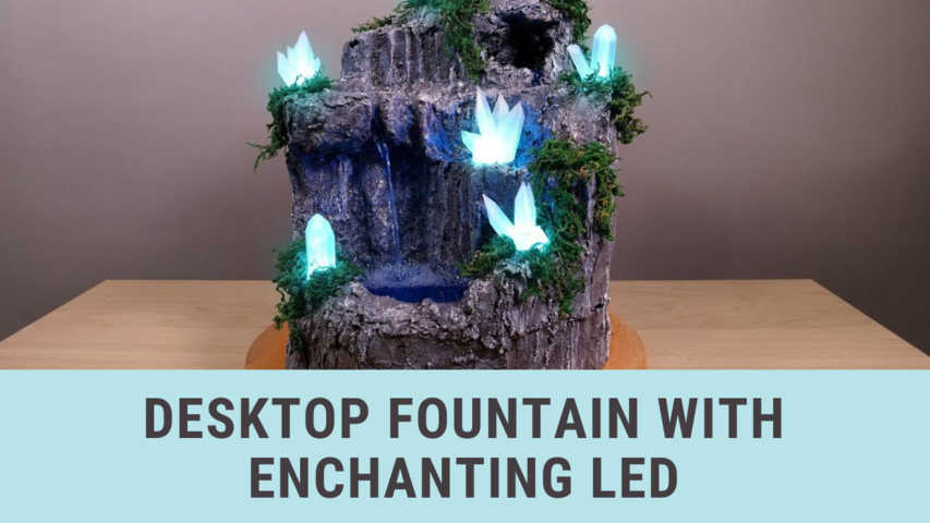 Desktop Fountain with Enchanting Led