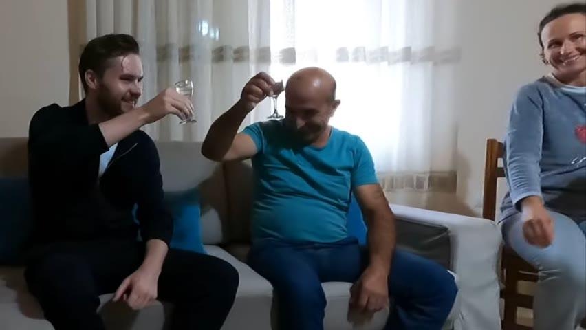 ALBANIAN FAMILY Invite Me Inside Home To Drink Raki 🇦🇱