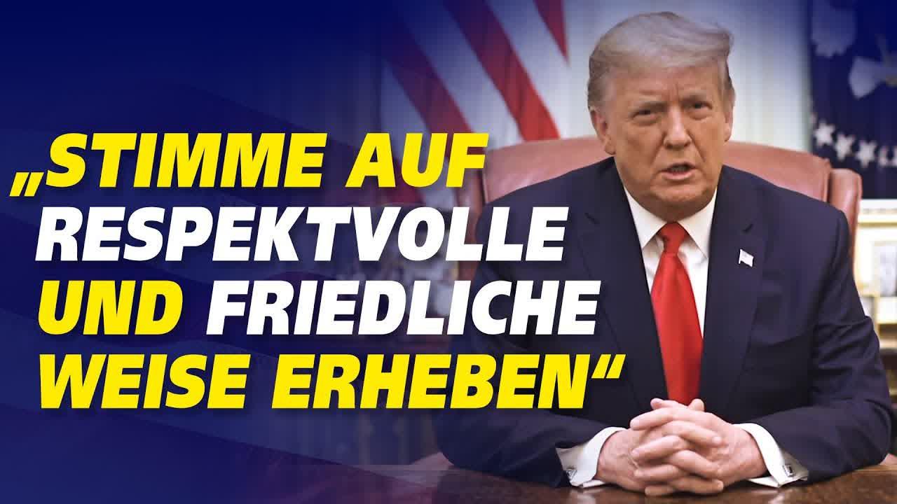 Eine Botschaft von US-Präsident Donald Trump an alle Amerikaner – Die Rede im Wortlaut auf Deutsch