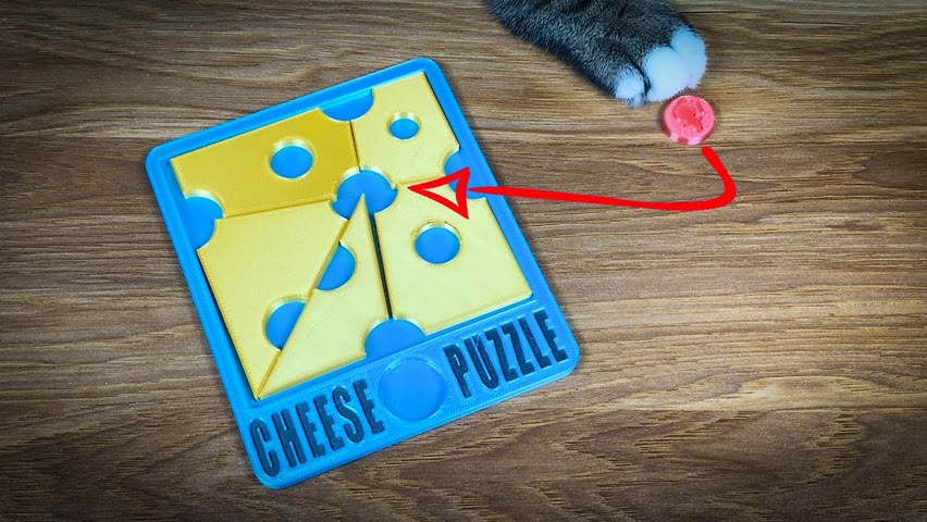 3D Printed Cheese Puzzle   Difficulty 8/10 !