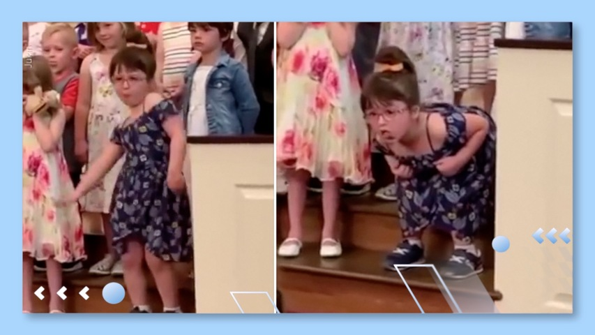 Little Girl Does a Hilarious Dance During Graduation Ceremony Performance