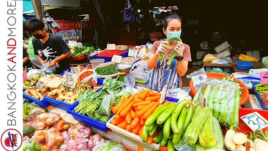Real Life In THAILAND   Amazing Morning Market At 6 AM