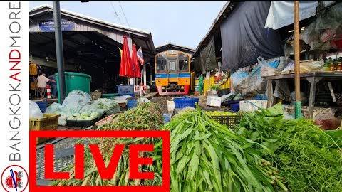 🔴 LIVE from Mahachai Train Market 🇹🇭