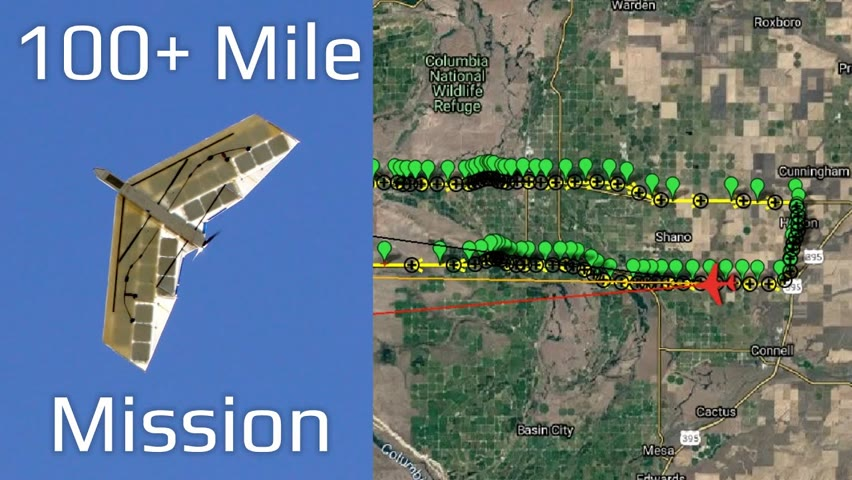 Solar Plane V4 Cross-Country Waypoint Mission