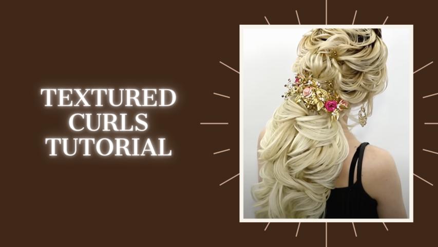 Textured curls tutorial, Farrukh Shamuratov