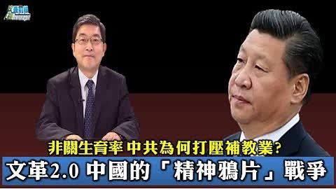 [張國城 0909 精華片段 ] 文革2.0 中國的精神鴉片戰爭。非關生育率 中共為何打壓補教業?
