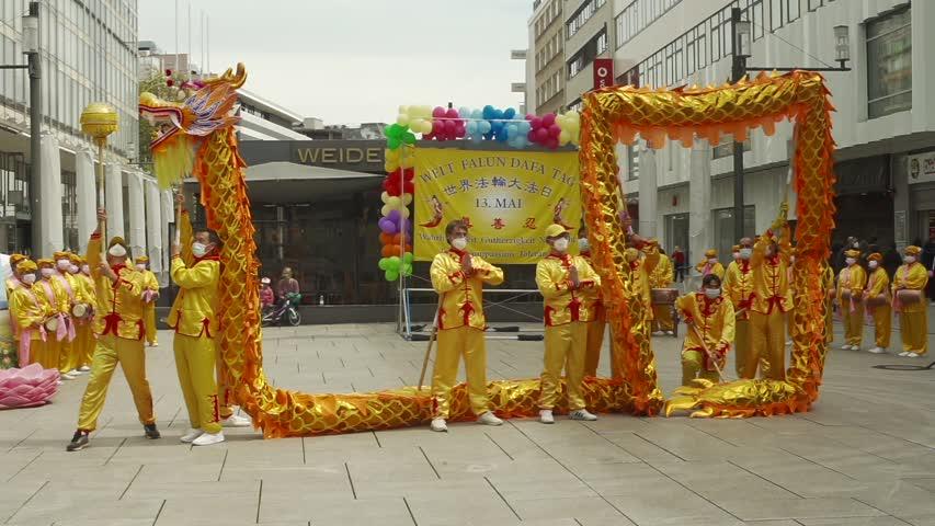 德國法蘭克福集會 慶祝法輪大法日