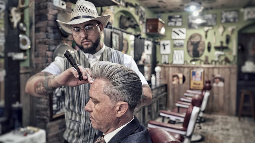 💈 ASMR BARBER - The Old School way of cutting hair - CLIPPER OVER COMB